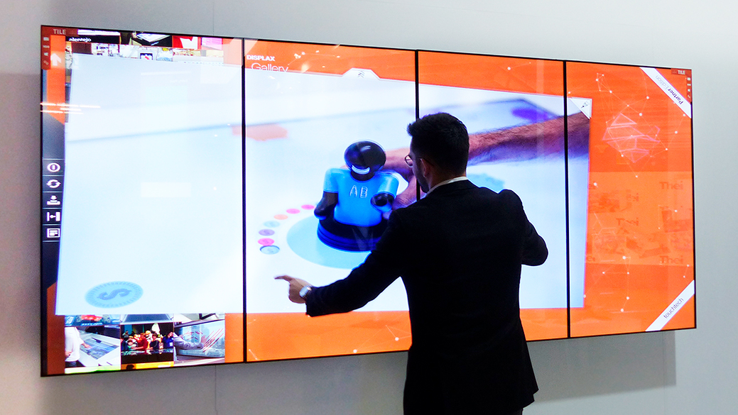DISPLAX TILE is the perfect solution for Videowalls, Modern Workplaces, Showrooms or Board Rooms