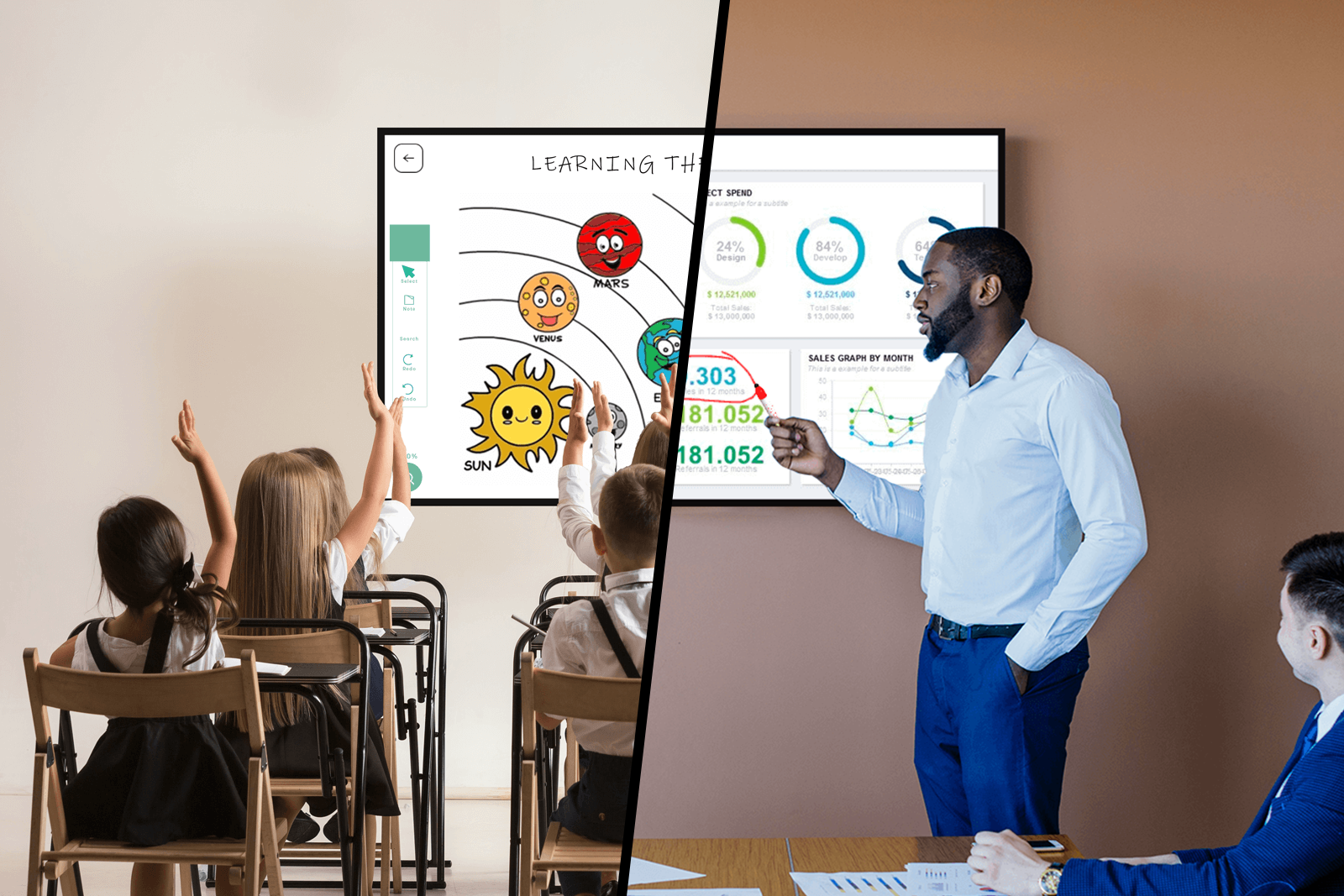 DISPLAX Sense for Classrooms and Meetings